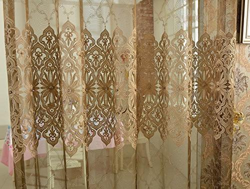ASide BSide Sheer Curtains Pocket Gorgeous Design -128121852958510PC