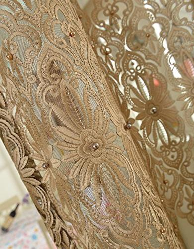 ASide Embroidered Curtains with Rod Pocket Top Gorgeous -128121852958510PC