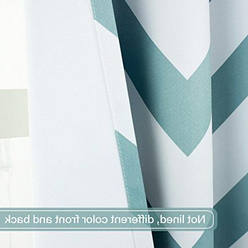 Flamingo P Thermal Blackout Drapes for Teal of Two Panels, each 52 inch