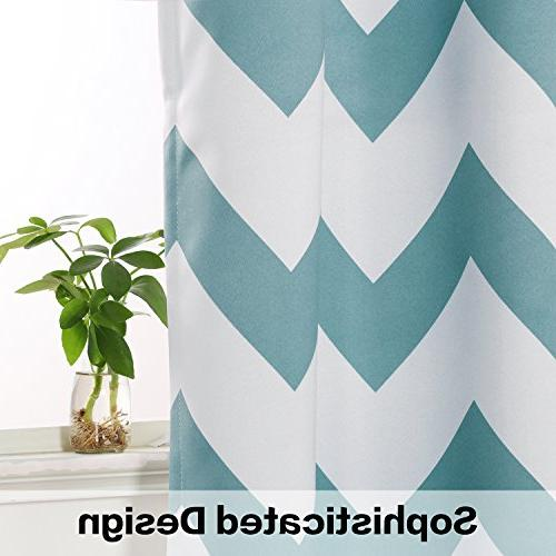 Flamingo P Energy Smart Thermal Drapes Window Curtains for Grommet Teal Set Panels, by 52 inch