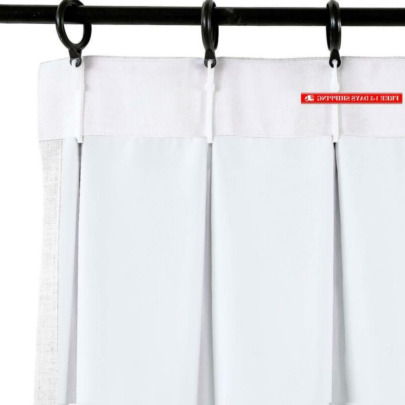 """Chadmade Extra Wide 100"""" W X L Polyester Linen With"""