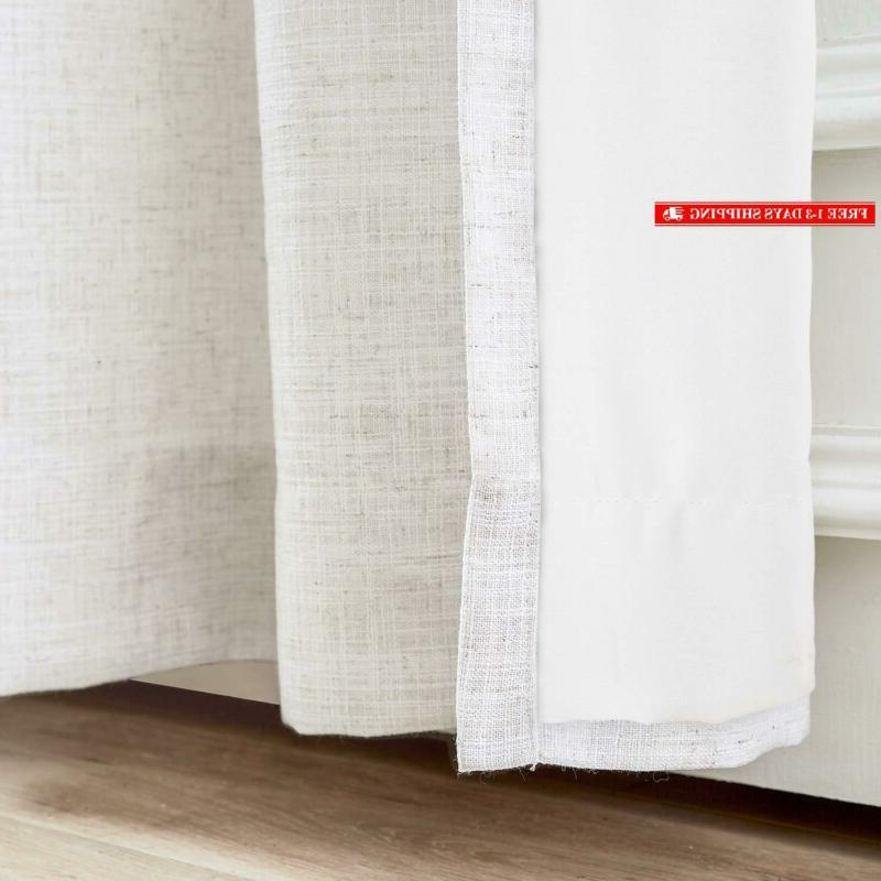 """Chadmade Curtain 100"""" X L Polyester Linen With"""