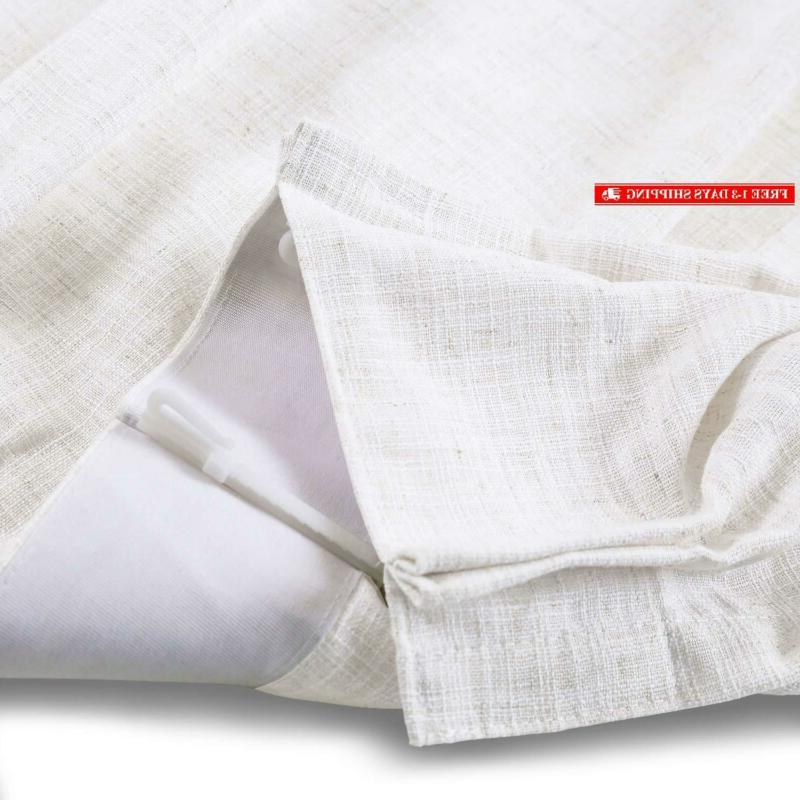 """Chadmade Wide Curtain 100"""" 84"""" L Polyester Linen With"""