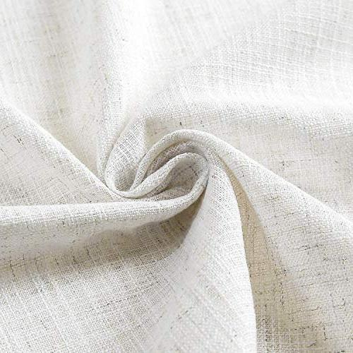 """ChadMade 50"""" 96"""" L Polyester Drapes Blackout Lining for Sliding Door Room Beige White"""