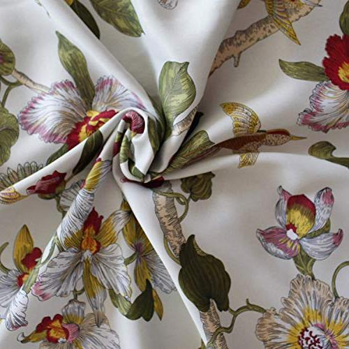 Flower Curtains Drapes - Anady Panel Curtains Short Drapes for Living Grommet