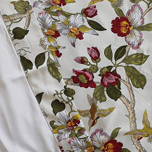 Anady Top Blackout Panel Bird Drapes Living Grommet 84 inch