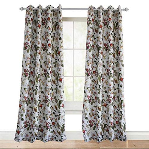 Anady Top Flower Curtain Blackout Drapes Drapes for Living Grommet 84 Length
