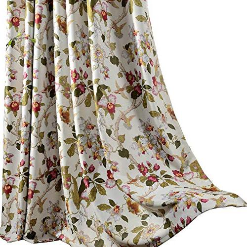 flower curtain blackout bedroom drapes