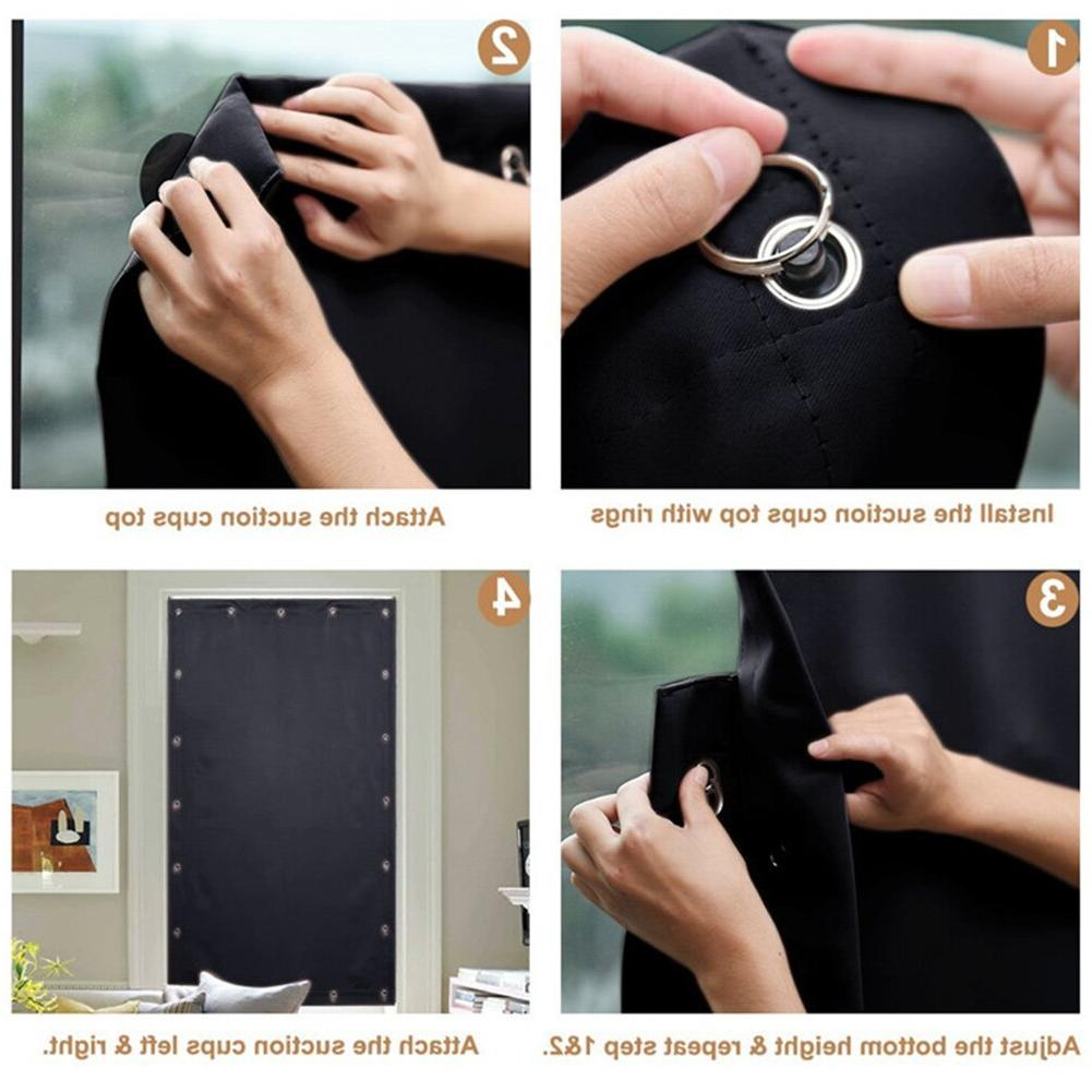 <font><b>Curtain</b></font> Bedroom Temporary Accessories <font><b>Blackout</b></font> Suction Room Home Install Solid