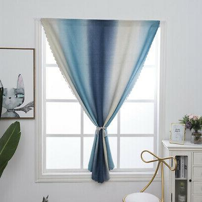 Gradient Blackout Curtains Room Insulated Bedroom
