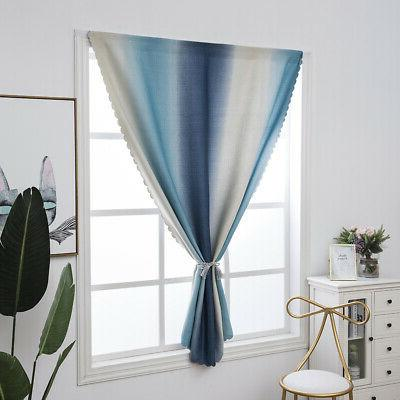 Gradient Color Window Curtains Thermal Bedroom