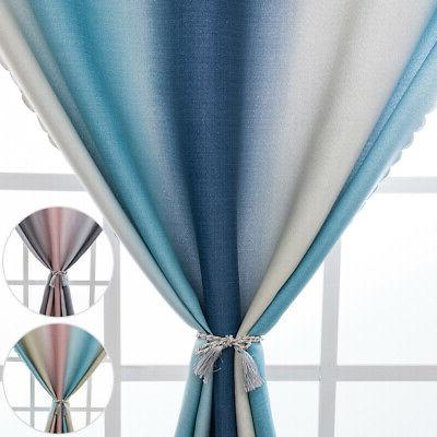 gradient color blackout window curtains room thermal