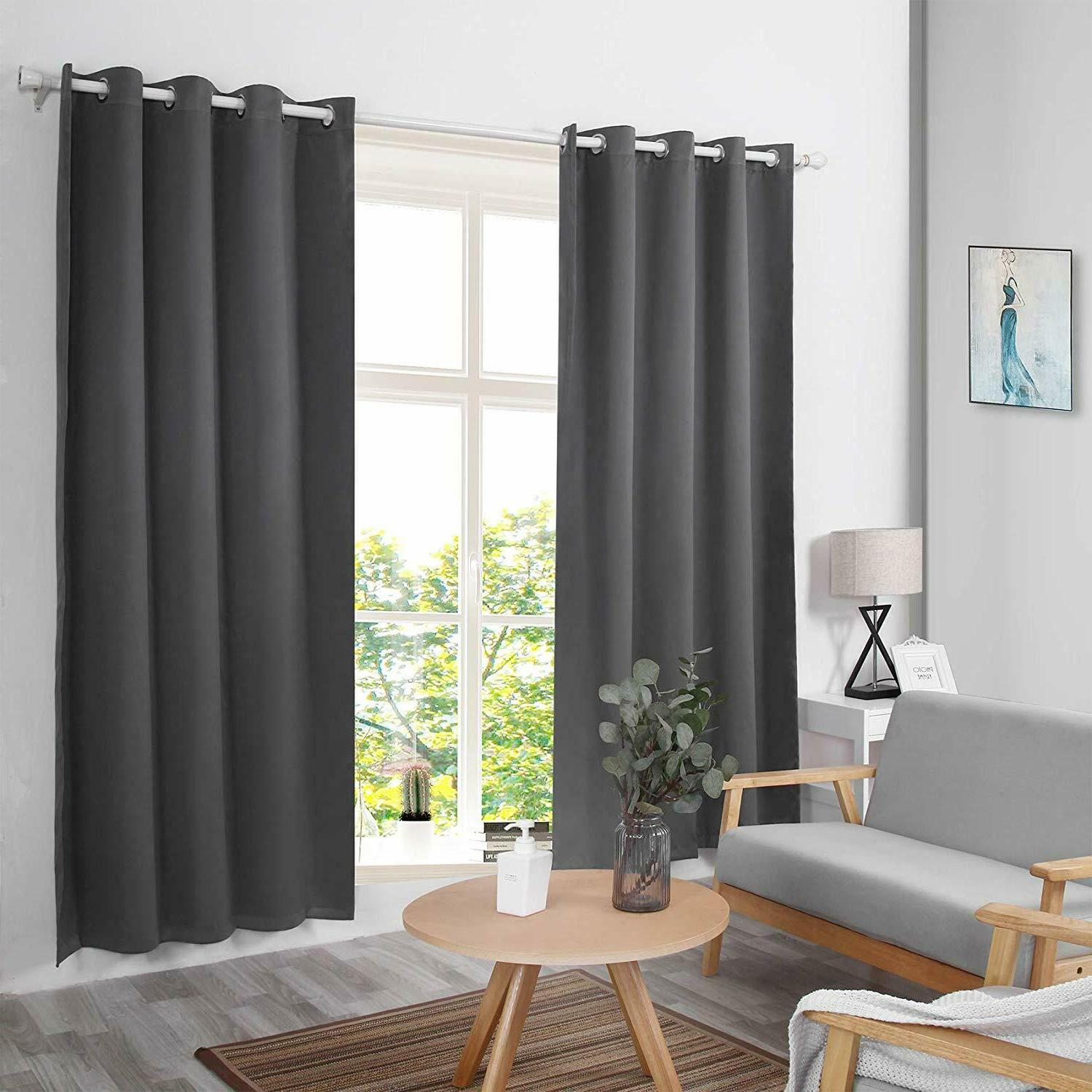 Gray Blackout Curtains - Eclipse Thermal