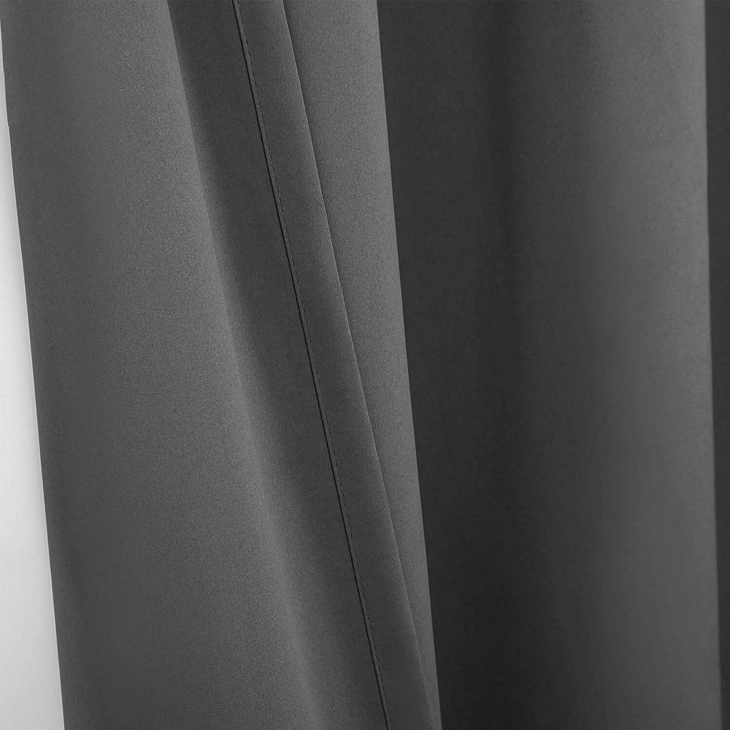 Gray Blackout Eclipse Blackout Curtains - Thermal Bedroom