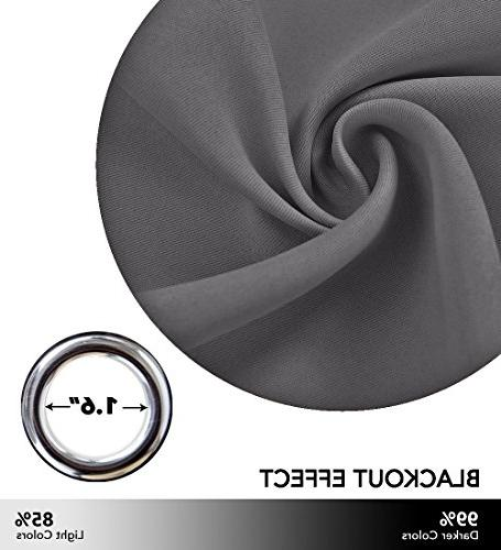 NICETOWN Window Treatment Insulated Home Decor Grommet Tier