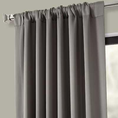 Exclusive Gray Thermal Blackout Curtain Pair Neutral Grey 50 108