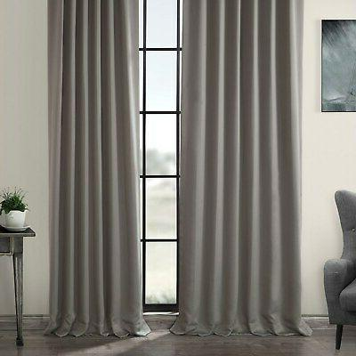 Exclusive Fabrics Gray Thermal Blackout Curtain Neutral 50 X 108