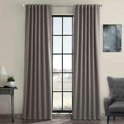 gray thermal blackout curtain panel pair neutral