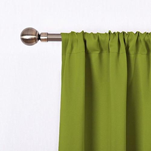 NICETOWN Panels for Living - Thermal Insulated Pocket Top Blackout Curtains/Drapes for Kid's Room