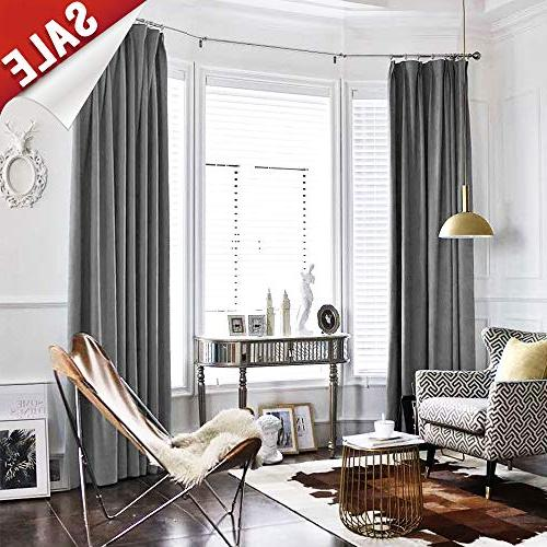 grey room darkening velvet curtains