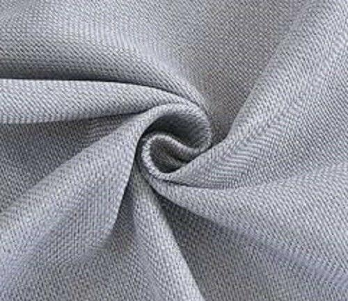 Grey Thermal Insulated Textured Faux Linen Room Darkening Cu