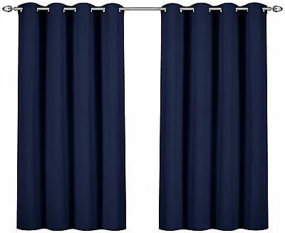 grommet top thermal insulated blackout curtains 2