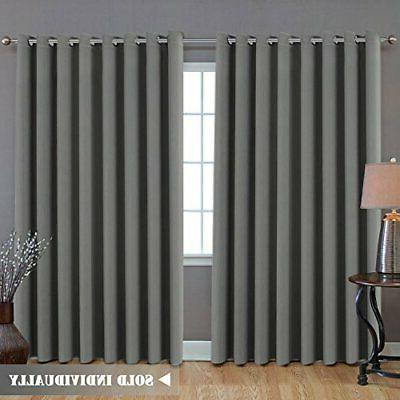 h versailtex blackout patio grey curtains extra