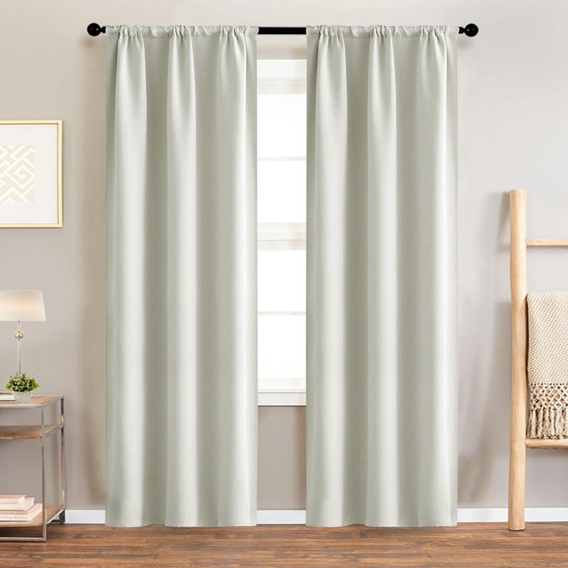 High For Insulating Solid <font><b>Curtains</b></font> Living Room Drapes