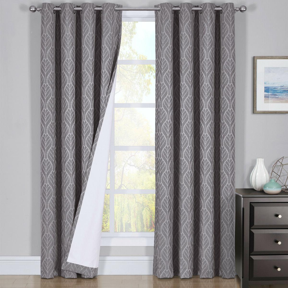Hilton Blackout Curtains Panels Jacquard Insulated