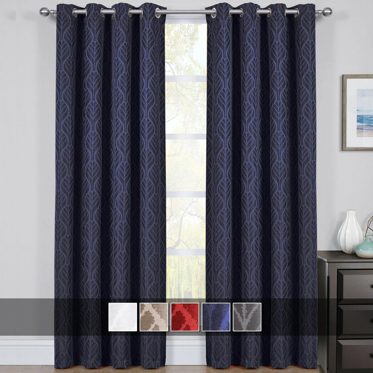 hilton blackout curtains panels jacquard thermal insulated