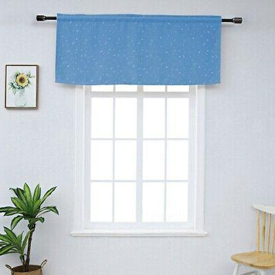 Home Window Fabric Curtains Blackout With Rod Pocket Small