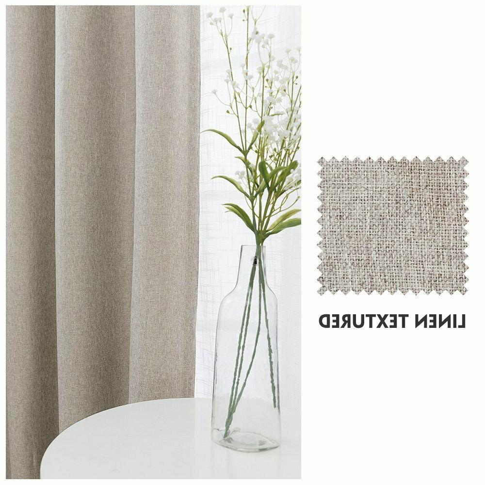 Indoor Window Drapes Blackout Room Thermal Insulated