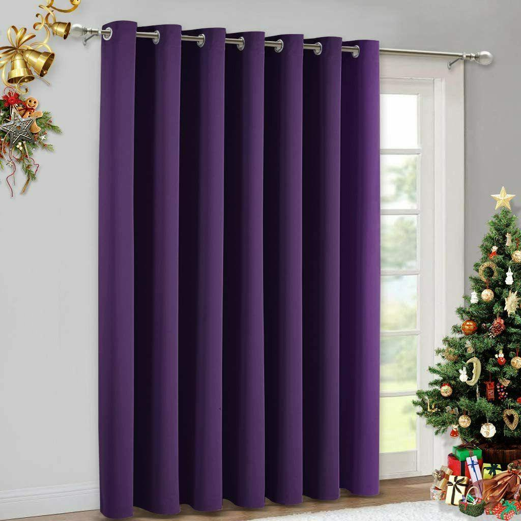 insulated blackout drapes window curtains 52 x