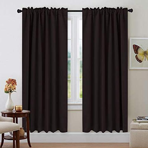 "NICETOWN Insulated Curtains Darkening 52""x72"", Set Pieces, Darkening Drapes Patio"