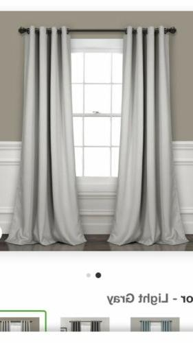 insulated grommet blackout window curtain panel pair