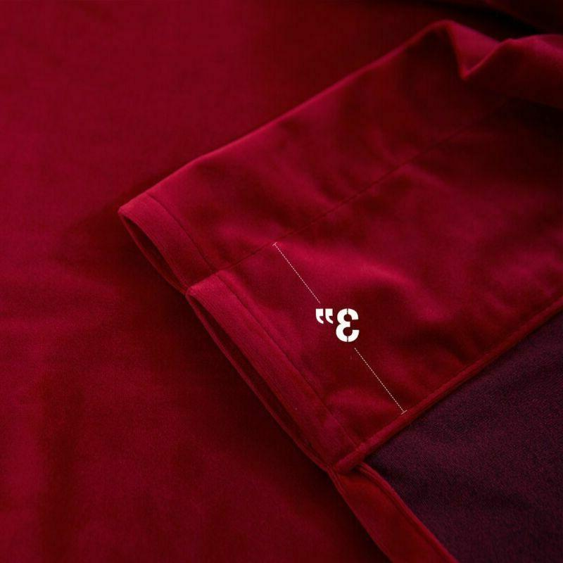 Jinchan Curtains Burgundy Red For Bedroom, Thermal Insulate