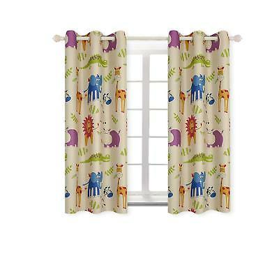 kids blackout curtains zoo