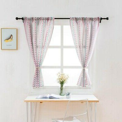 Kitchen Home Blackout Window Curtain Printed Valance