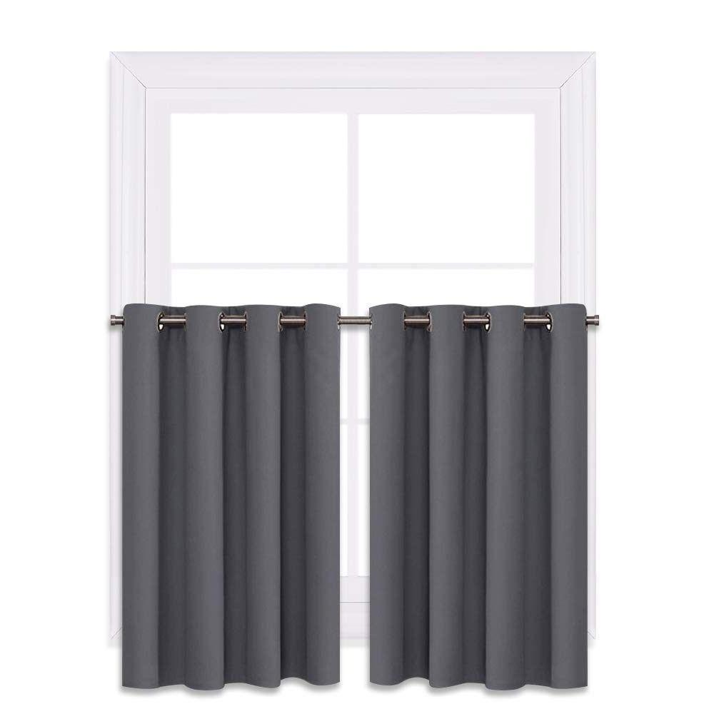 Kitchen Blackout Thermal Window Tiers Curtains Panel Home Decor
