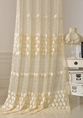 Lace Pattern Embroidered Window Voile 1