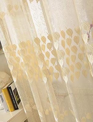Lace Curtain Pattern Rod Pocket Embroidered Window 1