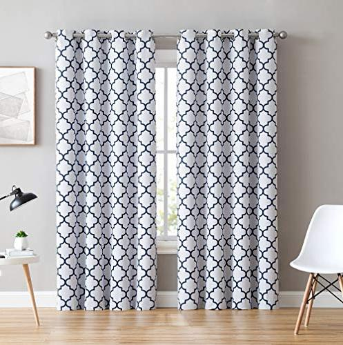 lattice print thermal insulated blackout