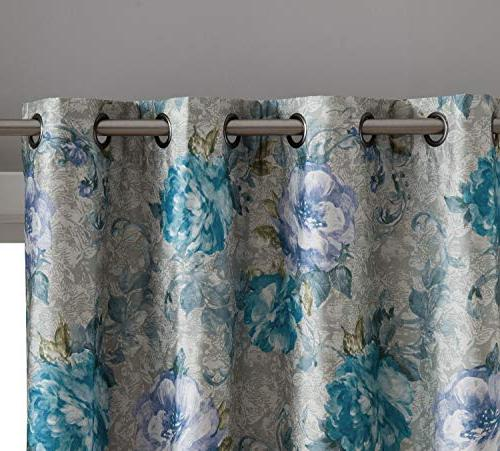 HLC.ME Layla Floral 100% Full Thermal Panels Noise Reducing - of