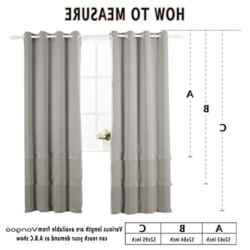 Vangao Blackout Curtains Thermal Home Decorative Curtain Top Window room, Set Panels 52x84
