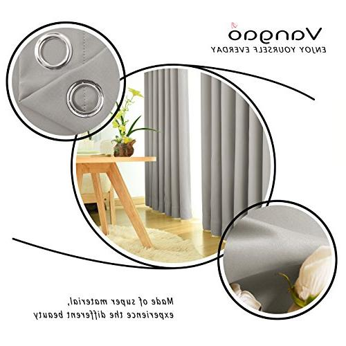 Vangao Light Blackout Bedroom Darkening Thermal Insulated Home Curtain Panels/Drapes Top Bedroom/Living Panels