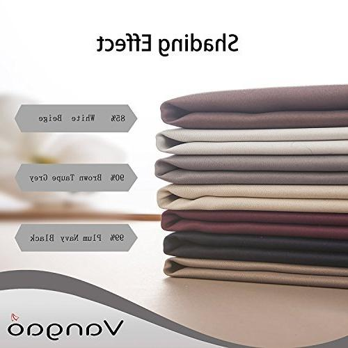 Blackout Kids Room Window Panels for 63 inches Long Light Blocking Weave Lila Drapes Curtains 2 Panels