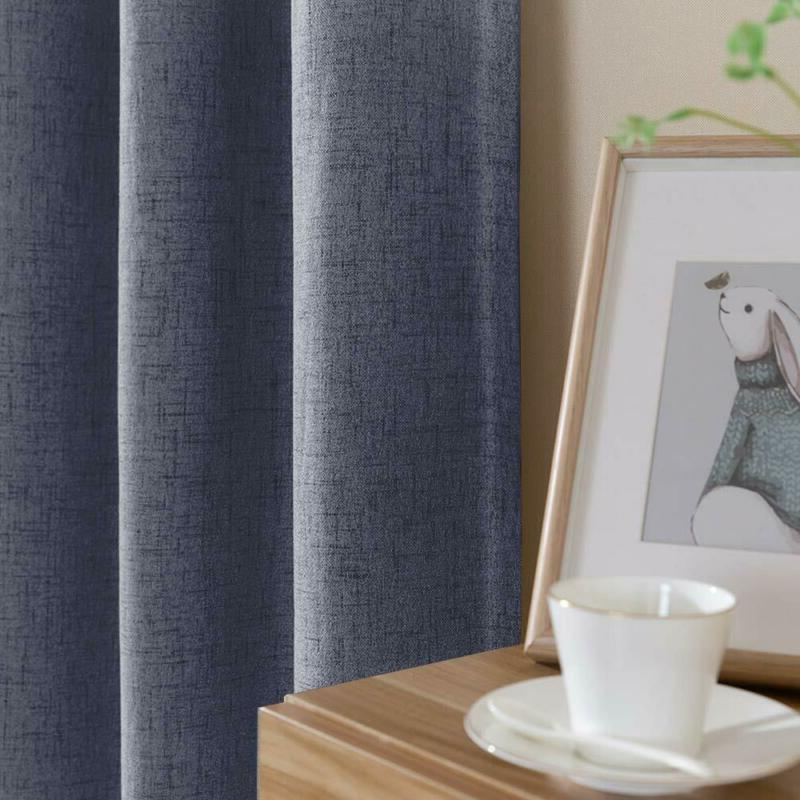 Vangao Blackout 84 Inches Textured Drapes Room