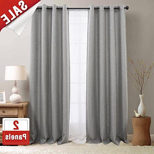 textured linen curtain panels