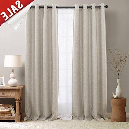 linen textured long room darkening