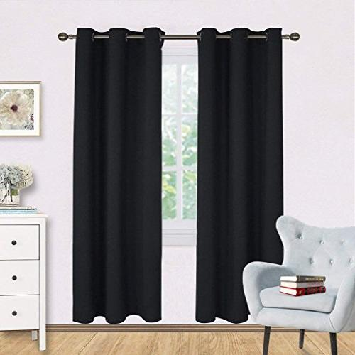 NICETOWN Room Curtain Panels, Autumn/Winter Insulated Solid Blackout Draperies/Drapes